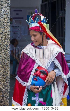 PANCHIMALCO EL SALVADOR - MAY 08 : A member of a dance group