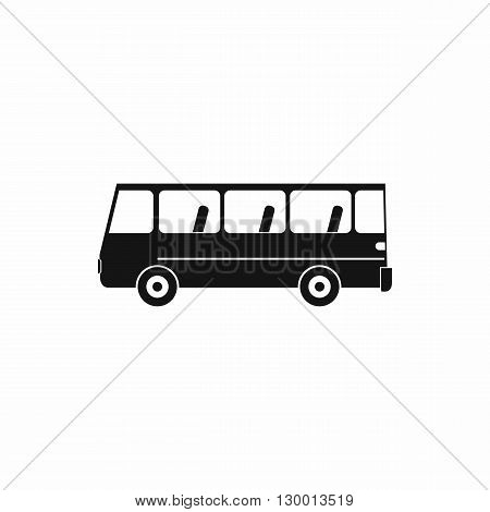 Bus icon in simple style on a white background
