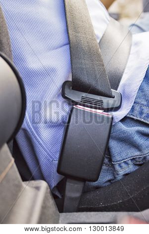 Man Wearing Security Belt