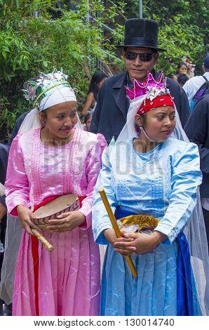 PANCHIMALCO EL SALVADOR - MAY 08 : A members of a dance group
