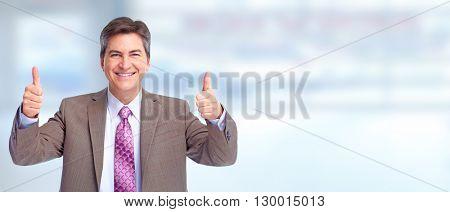 Happy businessman.