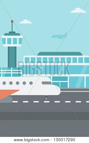 Background of airport with airplane.