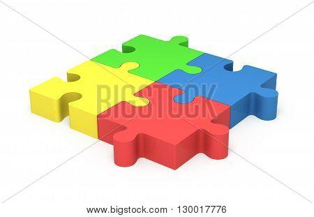 3D Puzzle Pieces. Concept Unity.