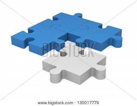 3D Puzzle Pieces. Concept Innovations.