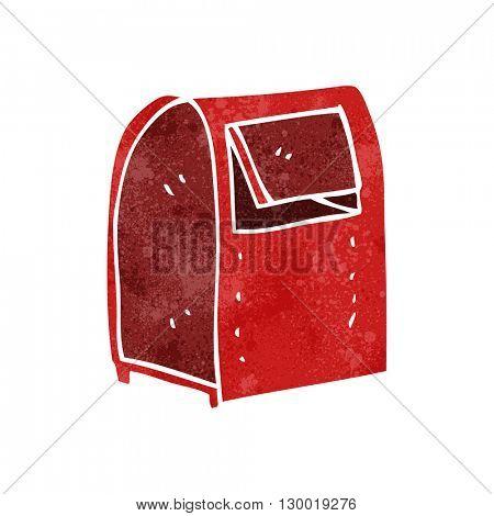 freehand retro cartoon mailbox