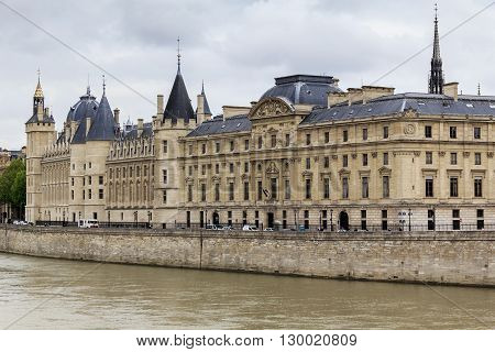 Paris, France - May 13: It is Conciergerie - former royal palace and prison is now part of the complex of the Palace of Justice May 13, 2013 in Paris, France.