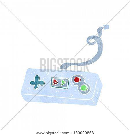 freehand retro cartoon game controller