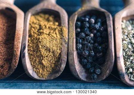 Spices In The Spoons