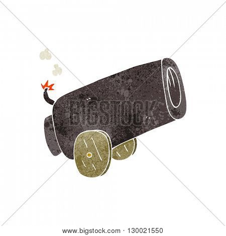 freehand retro cartoon cannon