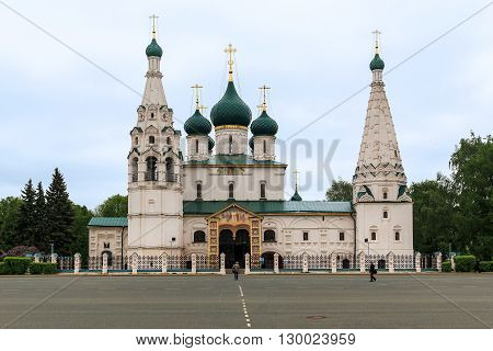 Yaroslavl, Russia - May 23: Church of Elijah the Prophet is an outstanding architectural monument of the XVII century Yaroslavl school of architecture May 23, 2013 in Yaroslavl, Russia.