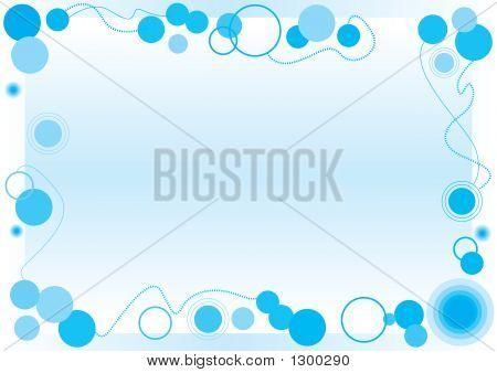 Blue Bubble Frame