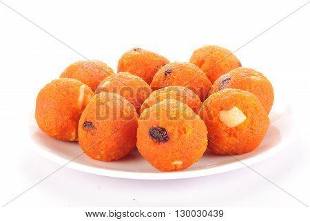 Indian Traditional Diwali sweets called Motichoor Ladoo or bundi