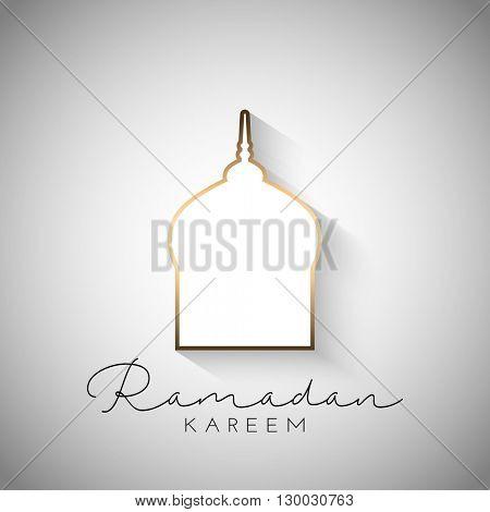 Ramadan Kareem background with simplistic design