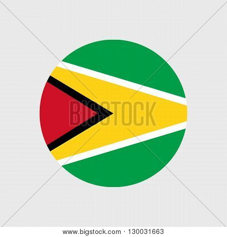 Set of vector icons with Guyana flag