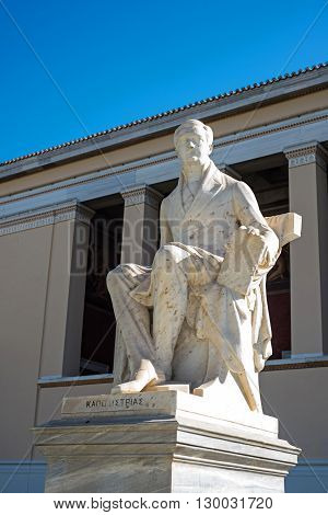 statue of the first governor of independent Greece Ioannis Kapodistrias