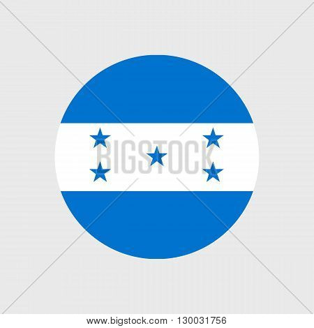 Set of vector icons with Honduras flag
