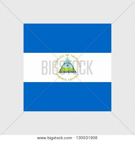 Set of vector icons with Nicaragua flag