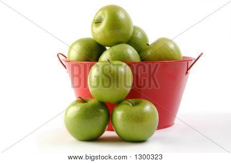 Grüner Apfel rot Eimer 7
