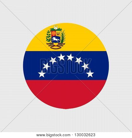 Set of vector icons with Venezuela flag