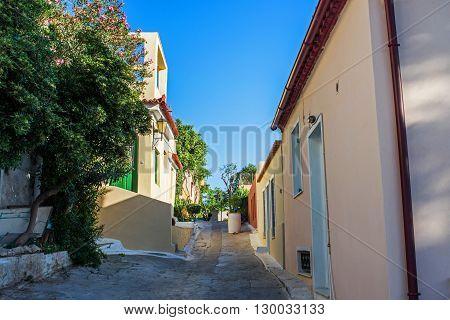 Old area of Anafiotika in Plaka Athens