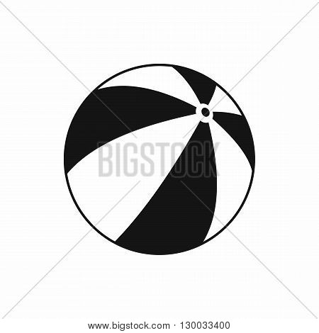 Beach ball icon in simple style isolated on white background. Sea and rest symbol