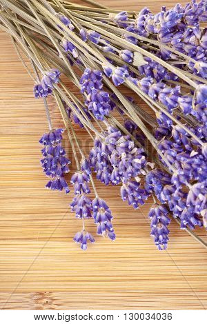 Dried Lavender On A Wooden Desk