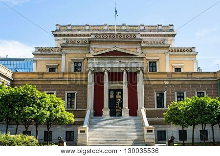 Old Greek Parliament in Athens in Greece
