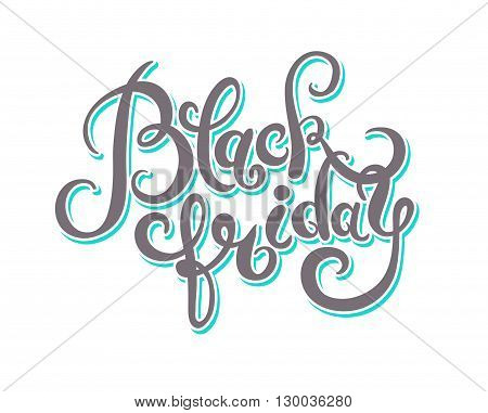 black friday handmade lettering calligraphy, total sale discount banner retro vintage style for banners, labels, badges, prints, posters, web, presentation, handwritting vector illustration