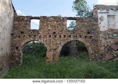 arches in ruins, house in ruins, ruins