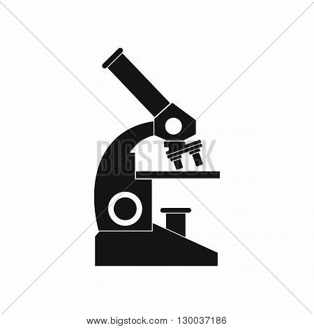 Microscope icon in simple style on a white background