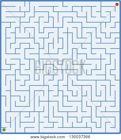 vector illustration of complex labyrinth on white