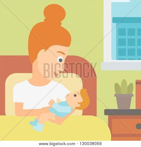 Woman in maternity ward.