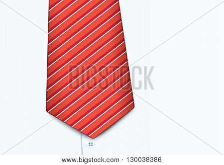 Vector illustration of shirt and tie, close-up