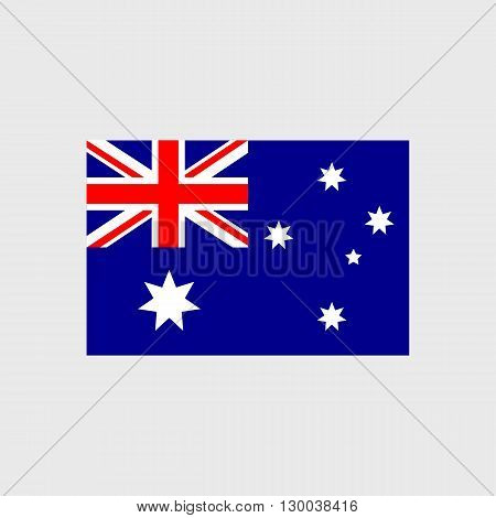Set of vector icons with Australia flag