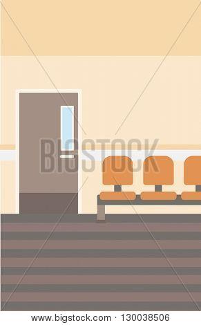 Background of hospital corridor.