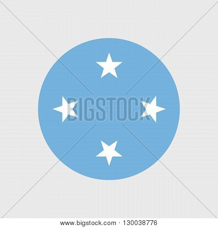 Set of vector icons with flag of the Federated States of Micronesia