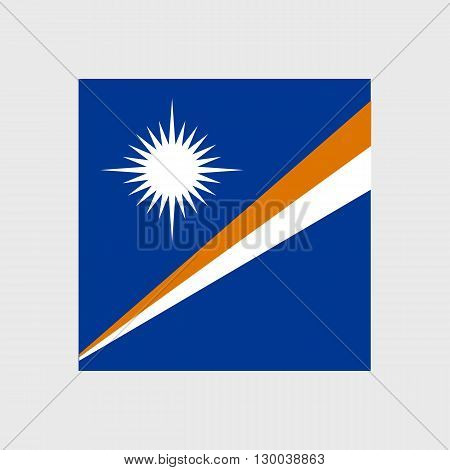 Set of vector icons with flag of the Marshall Islands