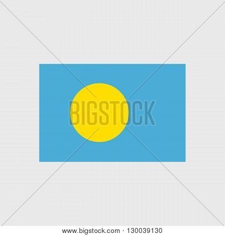 Set of vector icons with Palau flag