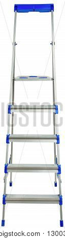 Ladder, front view, isolated on white background