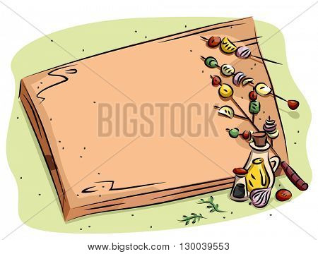 Frame Illustration Featuring a Chopping Board