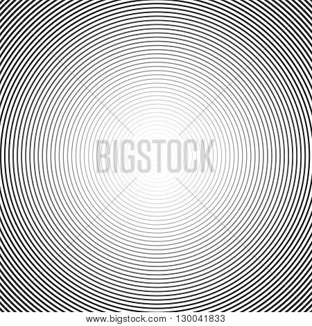 Concentric circle background. Vector background. Circular halftone