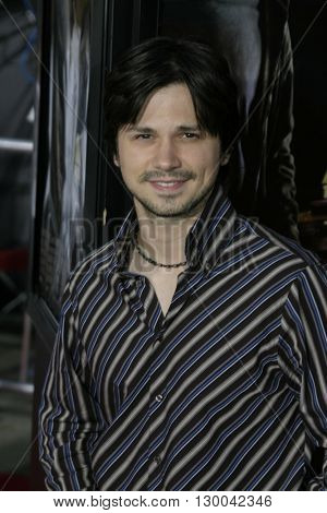 Freddy Rodriguez at the Los Angeles premiere of 'Collateral' held at the Orpheum Theatre in Los Angeles, USA on August 2, 2004.