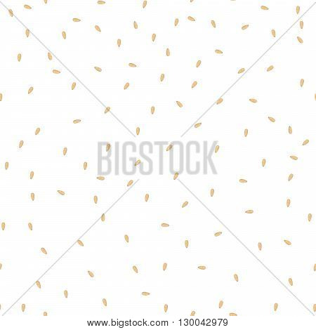 Sesame seeds seamless vector pattern. Packaging background design.