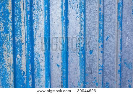 blue metallic rusted surface as a textured vintage background