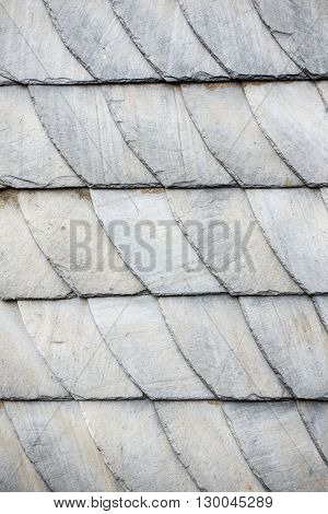 An image of a typical slate wall in Germany Hesse