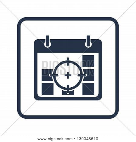 Deadline Icon In Vector Format. Premium Quality Deadline Symbol. Web Graphic Deadline Sign On Blue R