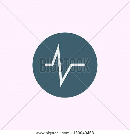 Pulse Icon In Vector Format. Premium Quality Pulse Symbol. Web Graphic Pulse Sign On Blue Circle Bac