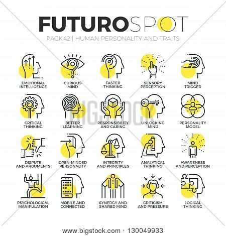 Personality Traits Futuro Spot Icons