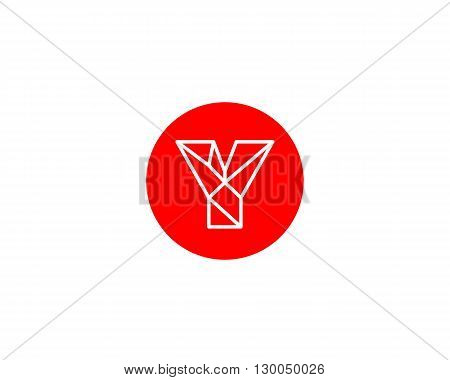 Abstract letter Y logo design template. Structure simple line sign. contact, business, medicine, development, mobile app vector symbol icon