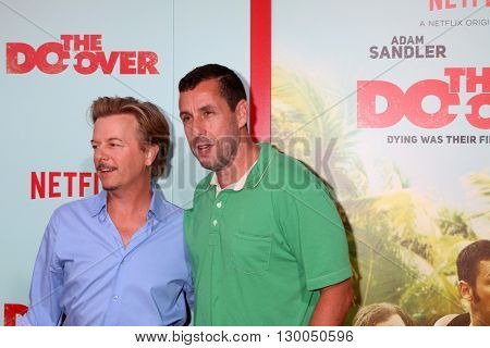 LOS ANGELES - MAY 16:  David Spade, Adam Sandler at the The Do-Over Premiere Screening at the Regal 14 Theaters on May 16, 2016 in Los Angeles, CA